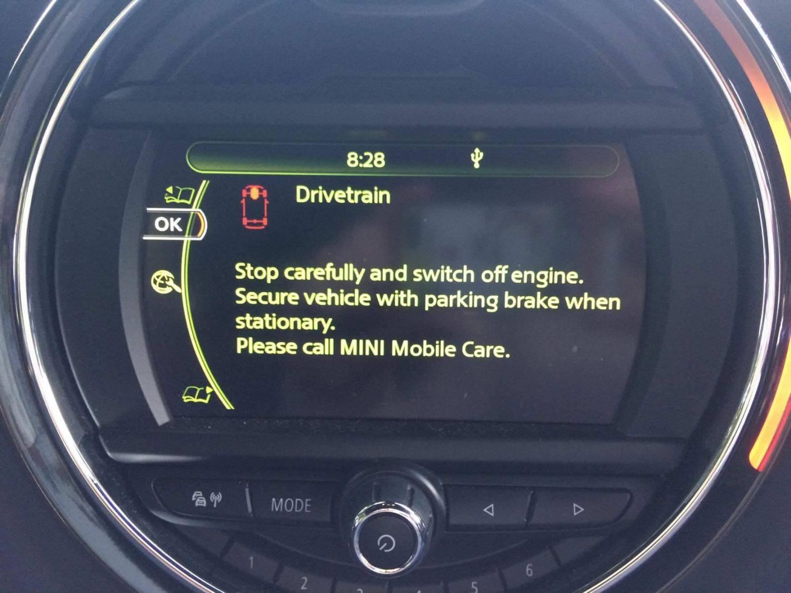 Drivetrain Error :(   Mini Cooper Forum