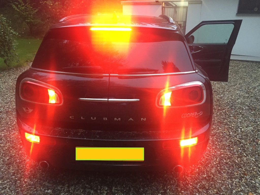 Clubman F54 Low Brake Light Fix Map Rear Fog Or Tail Lights With